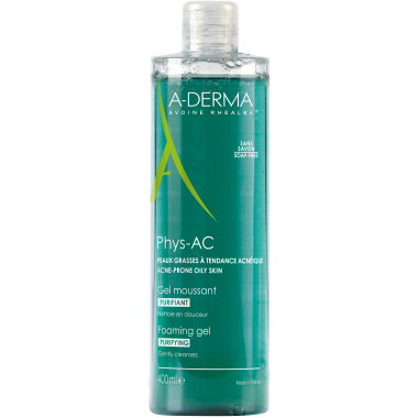 A-DERMA Gel Moussant Purifiant PHYS-AC